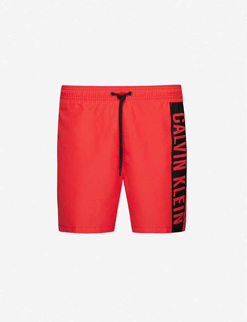 Intense Power branded-tape swim shorts