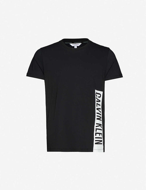 Brand-panel crewneck cotton-jersey T-shirt