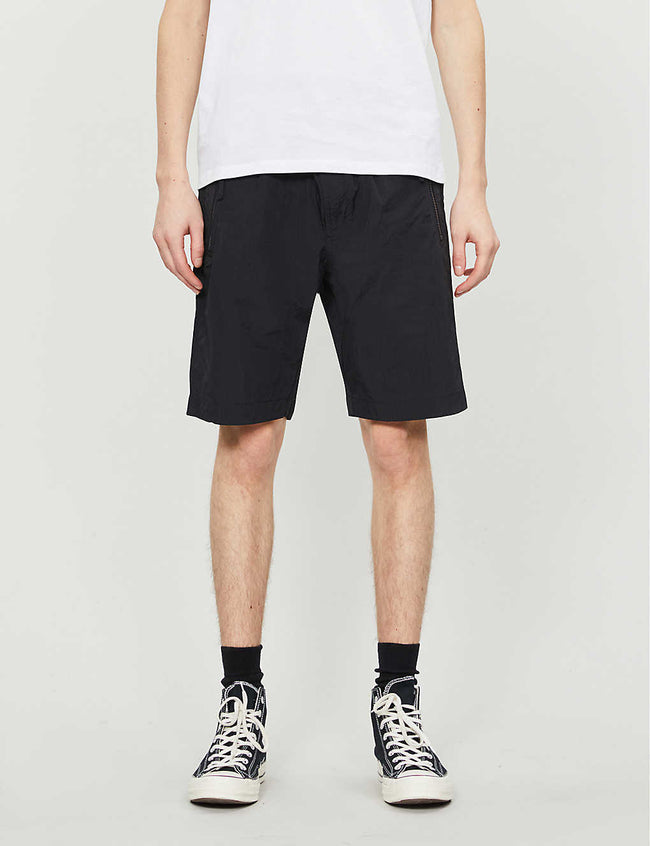 Logo-print relaxed-fit shell shorts