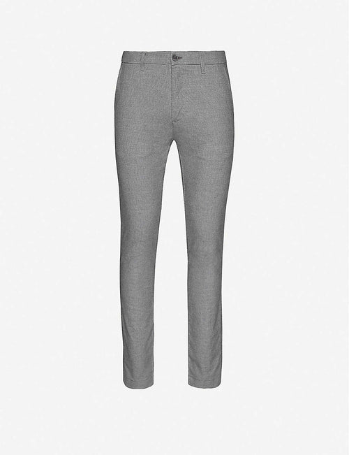 Slim-fit straight-leg trousers