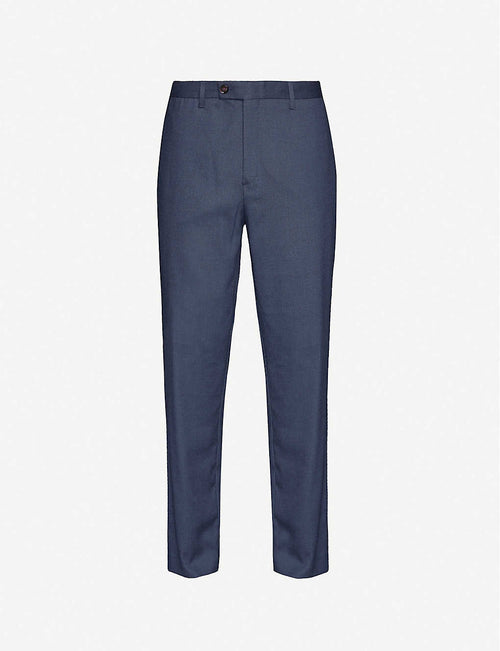 Slim-fit stretch-woven trousers