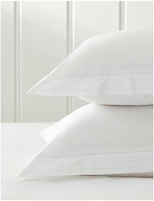 Camille embroidered cotton-percale Oxford pillowcase 50cm x 90cm
