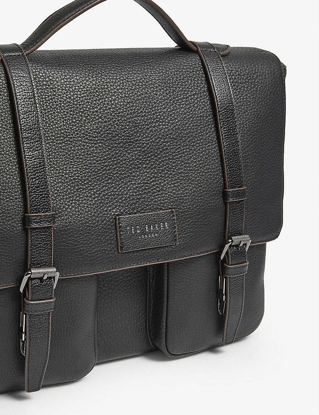 Pebbled leather satchel bag