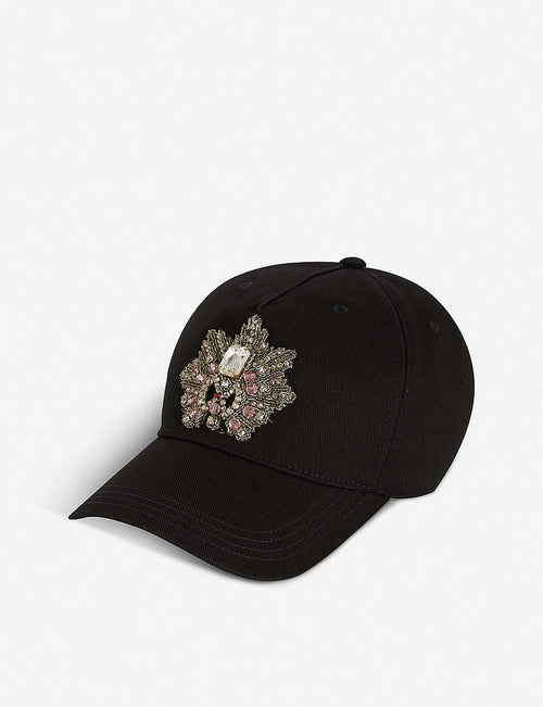 Jewelled cotton cap