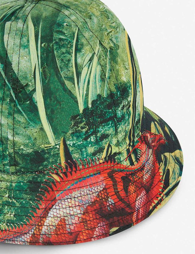 Roger Dean-print cotton bucket hat