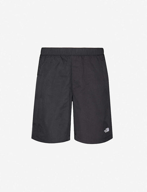 Logo-embroidered shell shorts
