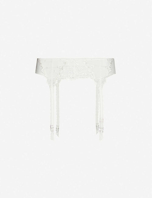 Decadence high-rise mesh suspender belt