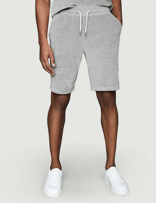 Akin slim-fit cotton-towelling shorts