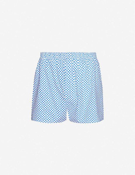 Graphic-print slim-fit cotton-jersey boxer shorts