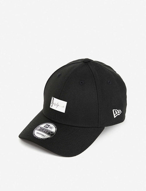 Logo-plaque wool baseball cap