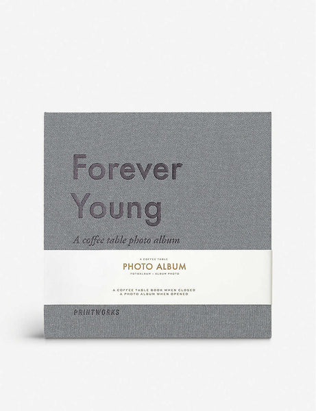 Forever Young coffee table photo album 19.5cm x 20cm