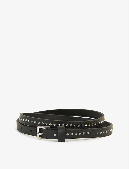 Ivy stud-embellished leather belt