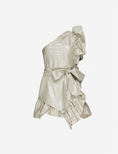Isabel Marant ruffled cotton and linen-blend mini dress