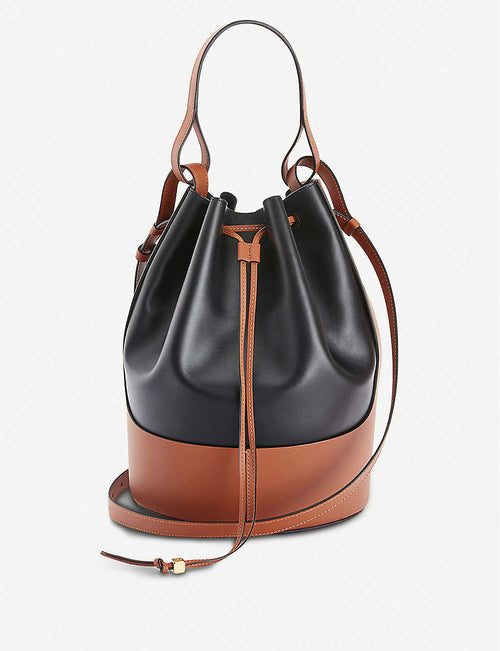 Balloon large leather shoulder bag