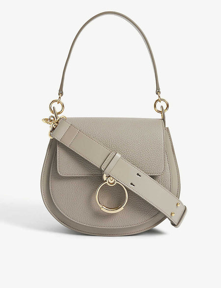 Leather knuckleduster shoulder bag