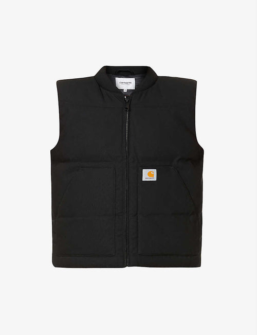 Brooke organic cotton-canvas vest