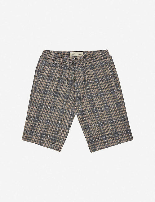 Kingsdale checked stretch-woven shorts