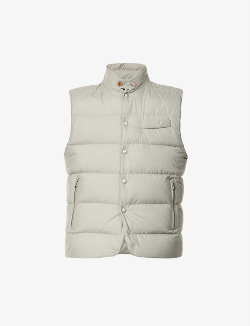 Padded shell-down gilet