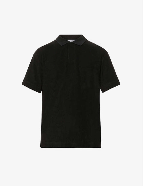 Cotton-towelling polo shirt