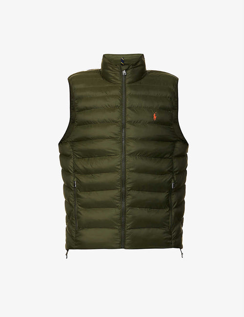 Quilted-down shell gilet