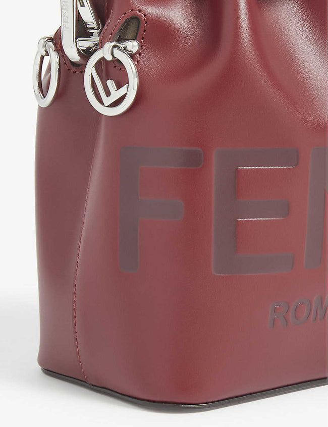 Mon Trésor logo-debossed leather bucket bag