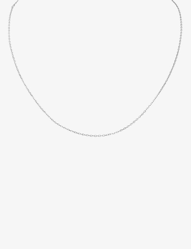 18-ct white-gold chain necklace