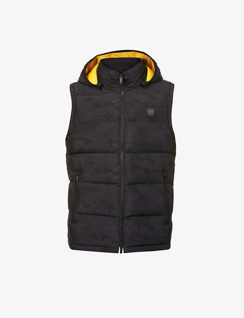 Kilcona 2 hooded padded shell-down gilet