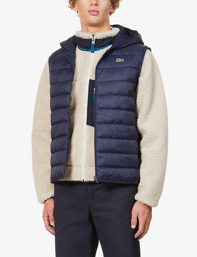 Padded shell hooded gilet
