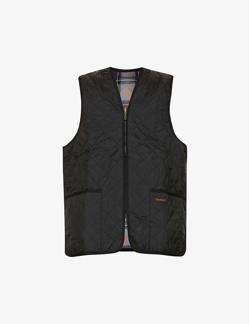 Funnel-neck quilted shell gilet