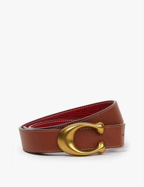 C-logo leather belt