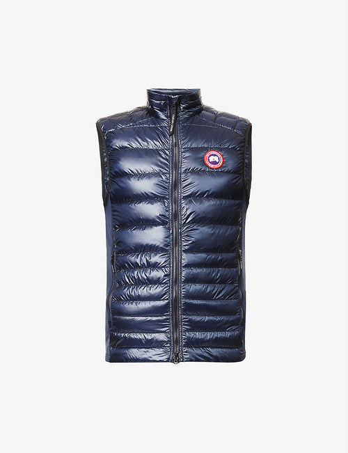 Hybridge Lite funnel-neck shell-down gilet