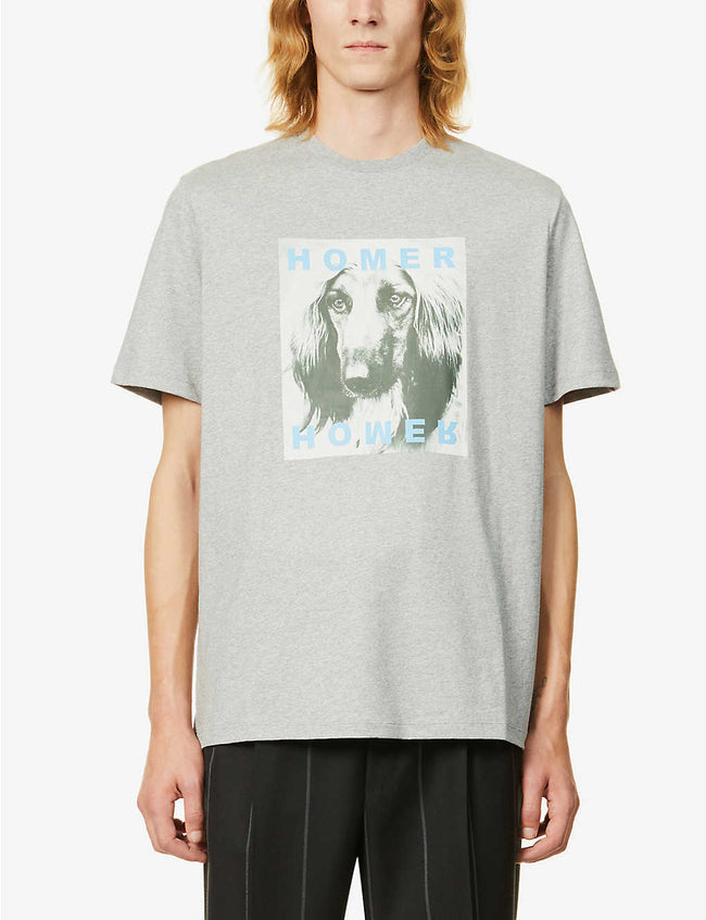 Graphic-print cotton-jersey T-shirt