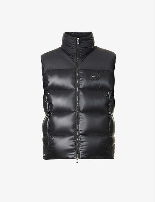 Two-tone padded shell-down gilet