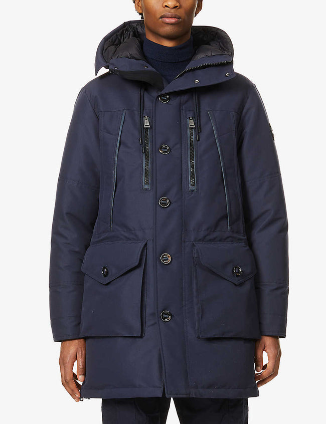 Hooded shell-down parka jacket