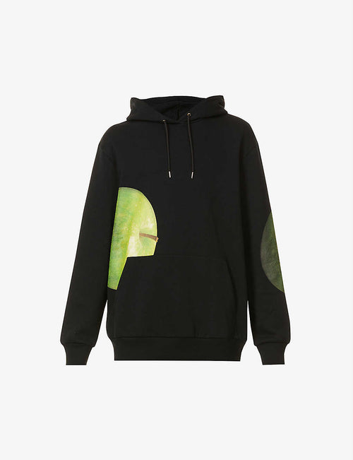 Green Apple graphic-print cotton-jersey hoody