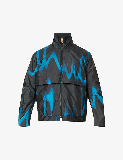 Abstract-pattern shell jacket