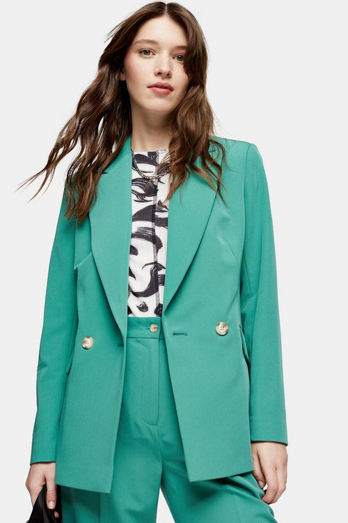 Mint Double Breasted Blazer