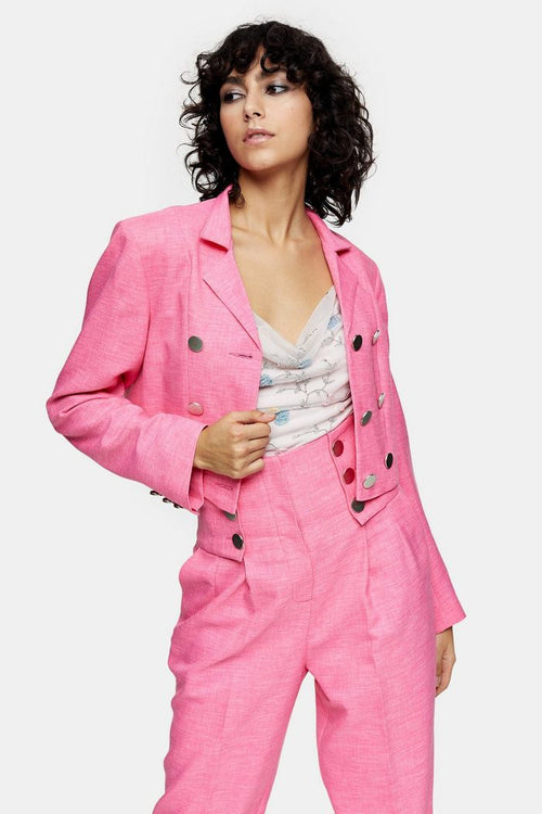 IDOL Pink Cropped Blazer