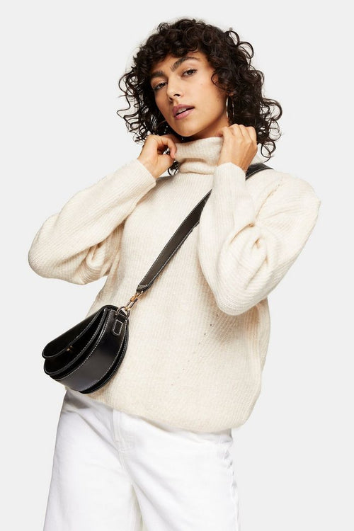Camel Roll Knitted Jumper
