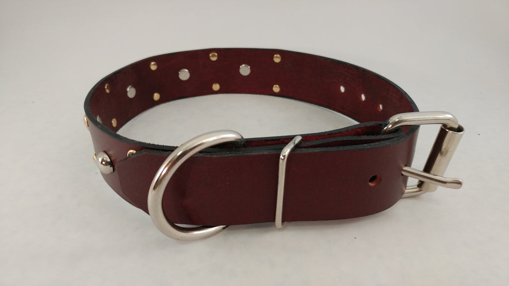 "1 1/2"" Leather Dog Collar M 18""-23"""