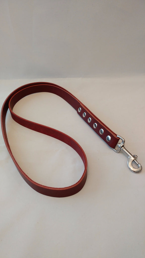 "32"" All Leather Dog Leash"