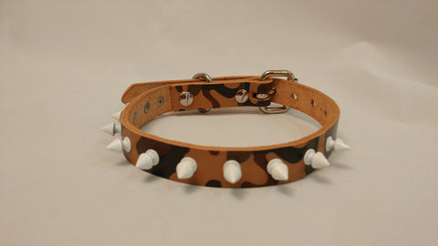 "3/4"" Spiked Leather Dog Collar XS 12""-17"""