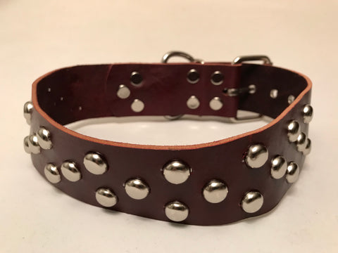 "2"" Leather Dog Collar L 22""-26"""