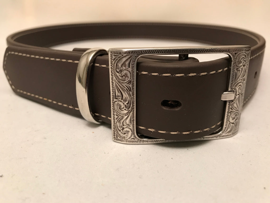 "Brown Brahma Webb® Leather Belts 1 1/4"" Wide"