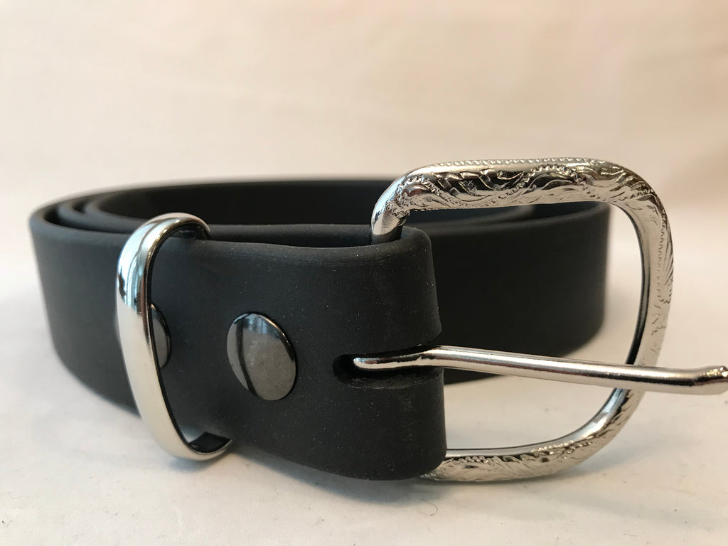 "Black Brahma Webb®Leather Belts 1 1/2"" Wide"