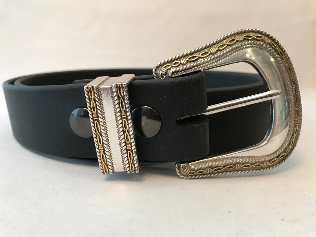 "Black Brahma Webb® Leather Belts 1 1/2"" Wide"