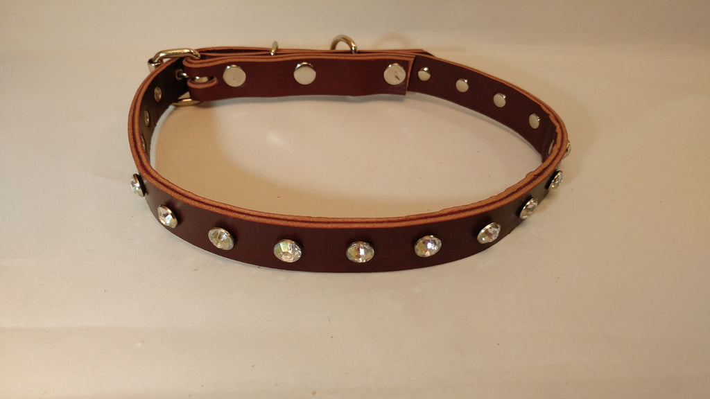 "1"" Leather Dog Collar L 20""-26"""
