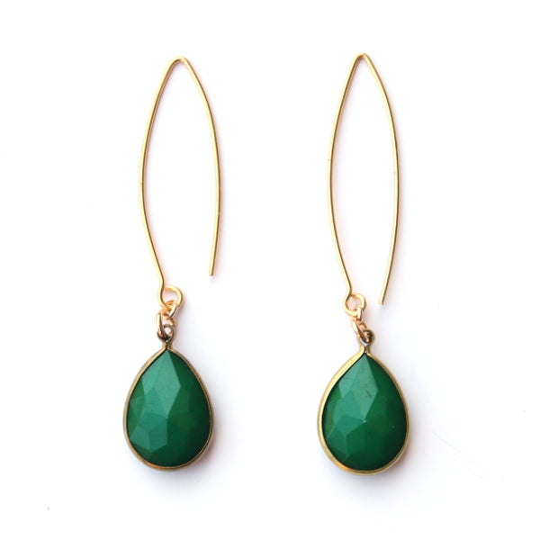 A Simple Touch Earrings - Green