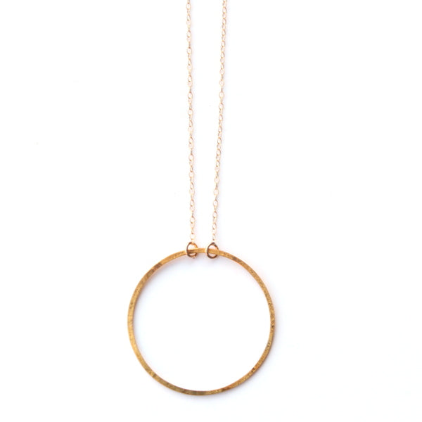 Back To Basics Necklace - Small Hoop