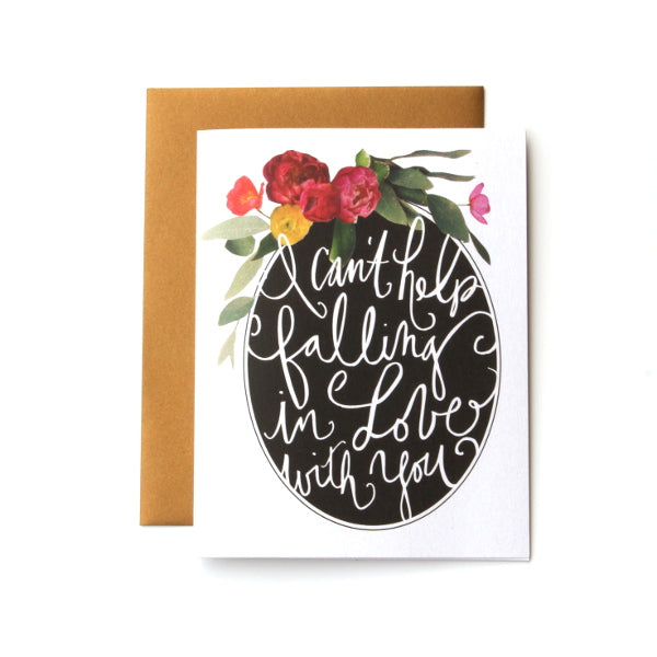 I Can't Help Falling In Love With You Card